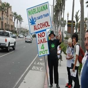 Marijuana Protesters March Outside Courthouse