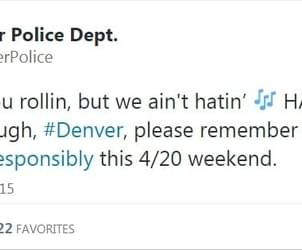 Denver Police Tweet Supportive Marijuana Message For 4/20 Rally