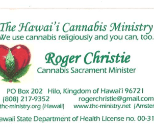 Court Rules Hawaii Cannabis Ministry May Not Distribute Marijuana for Religious Purposes