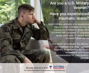 The PTSD marijuana study is now recruiting veteran volunteers