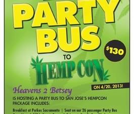 420 Party Bus 4/20 HEMPCON
