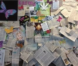 Our Dream Board! We collect articles on MedicalMarijuana and post them in our lobby for our patients to read!